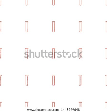 test tube icon pattern seamless white background. Editable line test tube icon. test tube icon pattern for web and mobile.