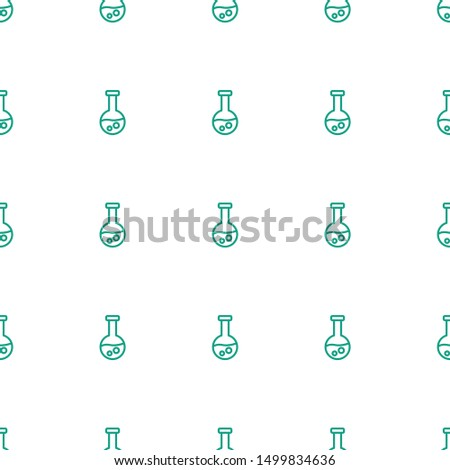 test tube icon pattern seamless white background. Editable outline test tube icon. test tube icon pattern for web and mobile.