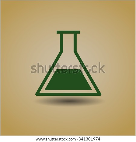 Test tube icon vector illustration