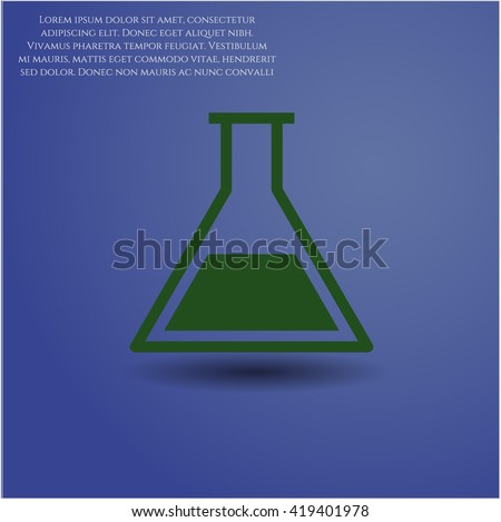 test tube icon vector symbol flat eps jpg app web concept