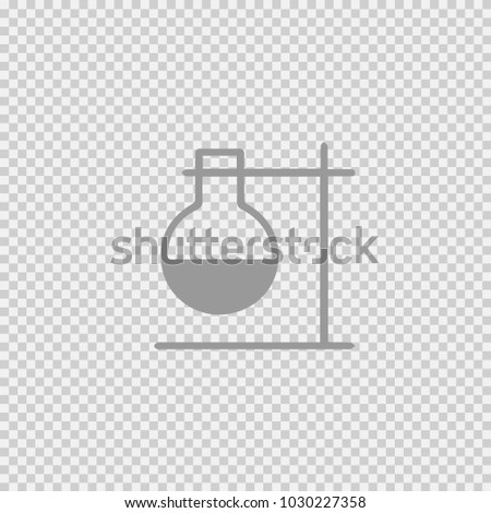 Test tube vector icon eps 10. Lab science simple isolated symbol pictogram.