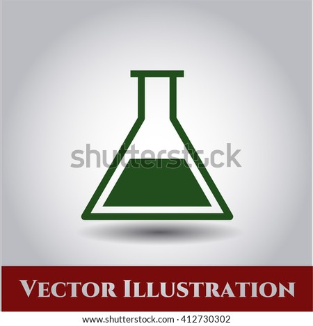 Test tube vector symbol