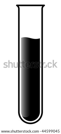 test tube with liquid for research