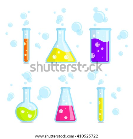 test tubes  beakers  flasks and