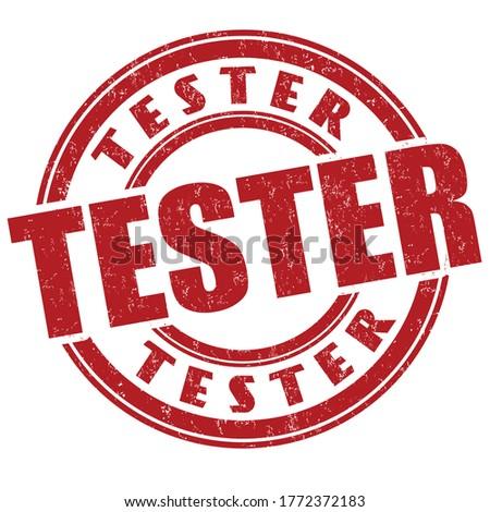 Tester sign or stamp on white background, vector illustration ストックフォト ©
