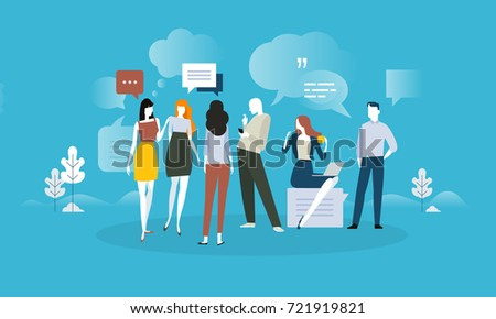 Testimonials and comments. Flat design concept for social media, product review, forum, communication. Vector illustration for web banner, advertising material.