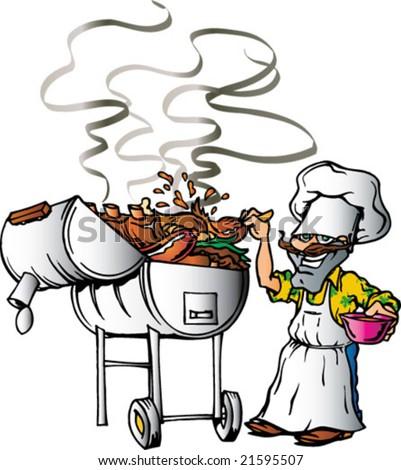 Texas Barbeque - stock vector