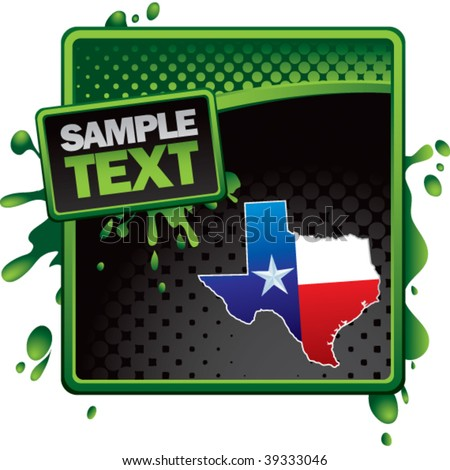 texas icon on classy modern style grunge template