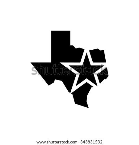 texas logo vector lone star of