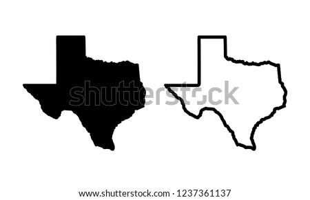 Texas Map Icon Vector. Mail Icon Symbols vector. symbol for web site Computer and mobile vector.