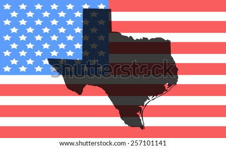 Texas Map And Flag Vector Download Free Vector Art Stock - Us map texas vector