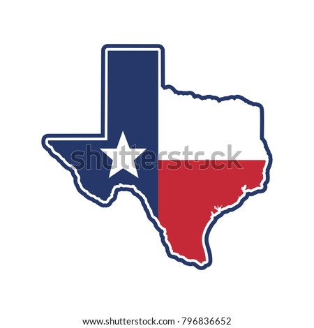 texas map. texas icon. texas symbol. logo vector. ストックフォト ©
