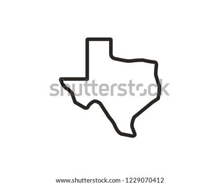 Texas map vector icon
