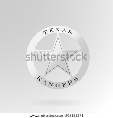 Texas Ranger badge. Vector