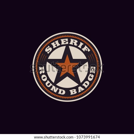 texas sheriff   cowboy badge