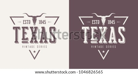 Texas state textured vintage vector t-shirt and apparel design, typography, print, logo, poster. Global swatches.