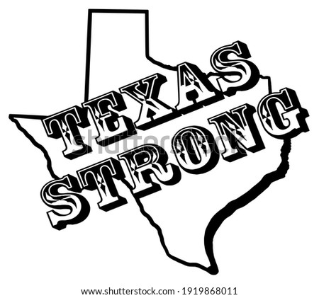 texas strong on outline of