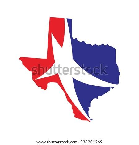 texas vector logo texas map