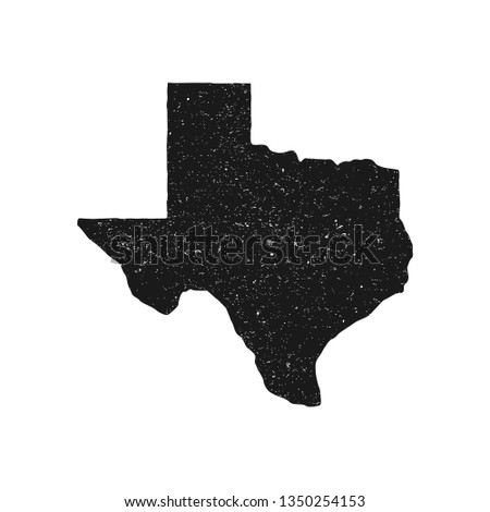Texas vector map stamp. Retro distressed insignia with US state map. USA state map vector illustration. - Vector
