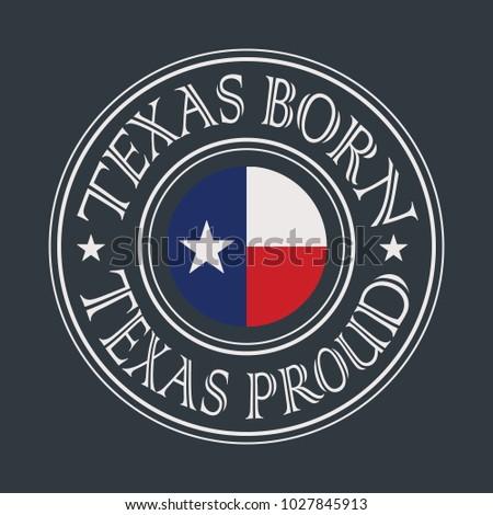 Texas Vintage T-Shirt Design. Vector.