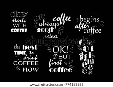 text about coffee white on