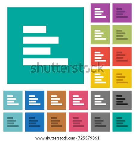 text align left multi colored