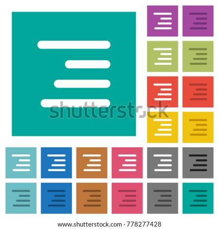 text align right multi colored