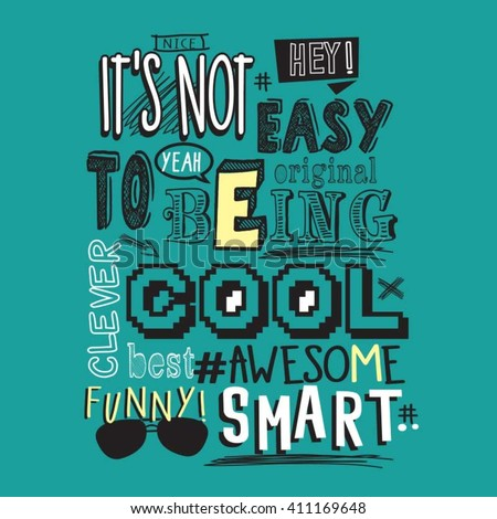 text awesome  funny  cool