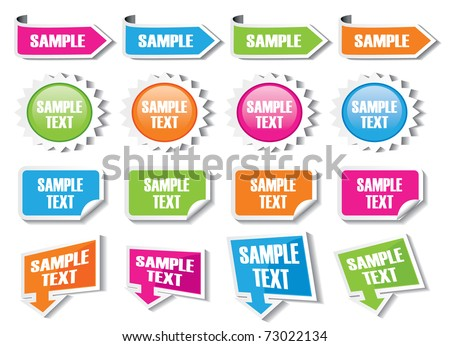 Text Box Templates - stock vector
