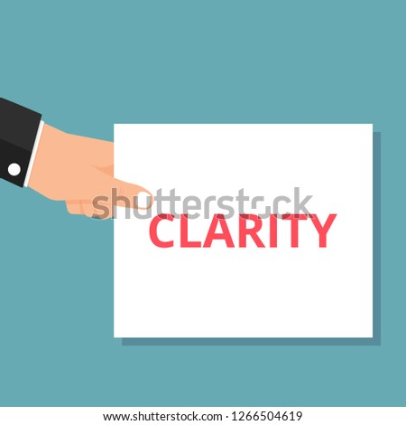 text Clarity. Vector illustration