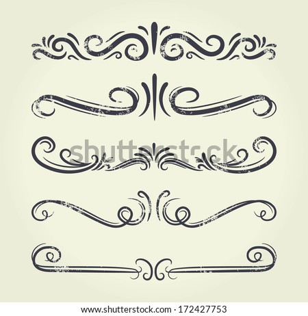 Text Divider Vector Text Divider Grunge Element