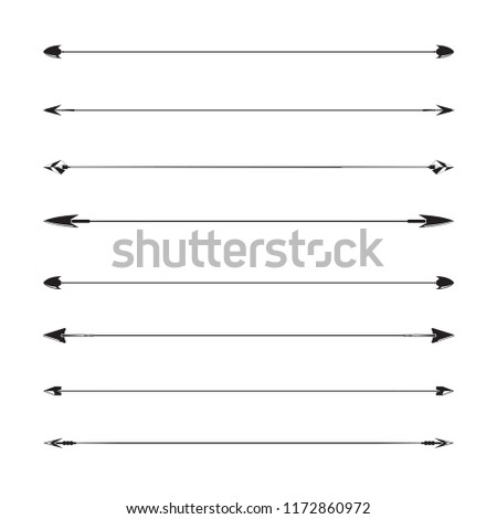 text dividers and arrows separator set illustration #1172860972