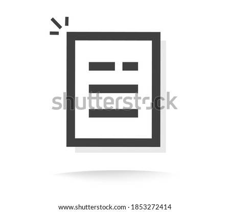 Text documentor txt file icon line outline art vector pictogram, paper sheet list with note message info modern design