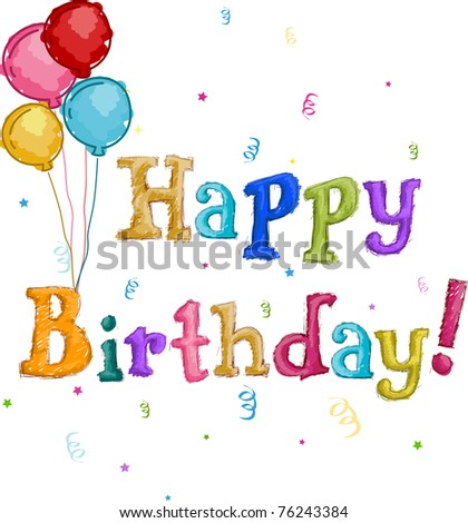 Text Featuring the Words Happy Birthday