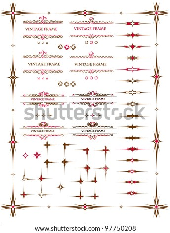 Text frame design elements - stock vector
