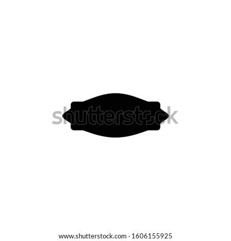 Text frame vector. Text shape symbol. Logo design element