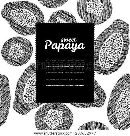 text frame with papaya