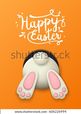 text happy easter and white