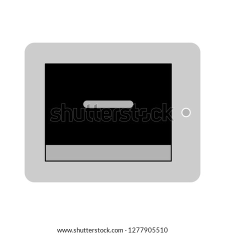 text-lines tablet icon- text-lines tablet isolated, e-book illustration - Vector tablet