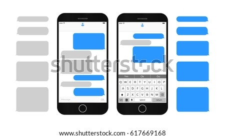 text message boxes on