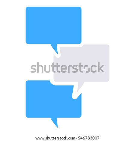 Text message icon - Glyph - Grey and blue