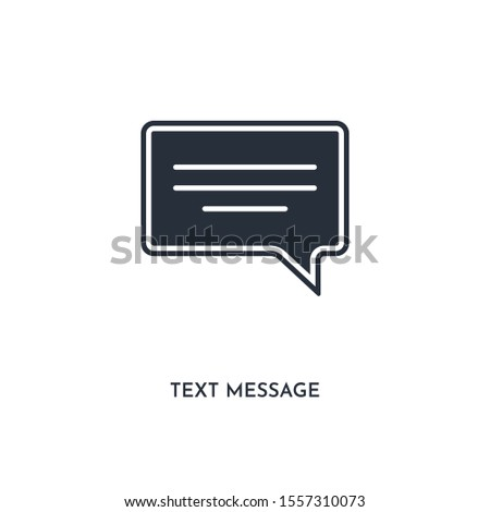 text message icon. simple element illustration. isolated trendy filled text message icon on white background. can be used for web, mobile, ui.