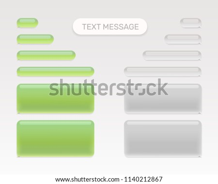 Text message set mobile chat. Vector illustration