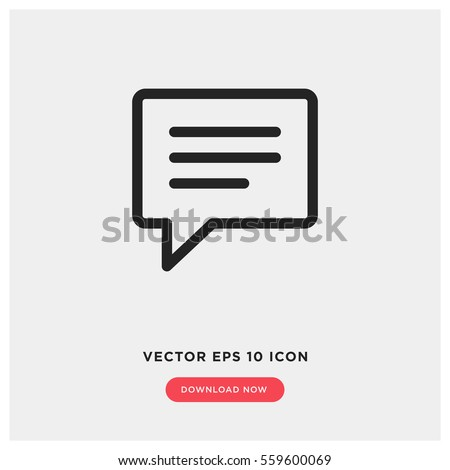 text message vector icon ...