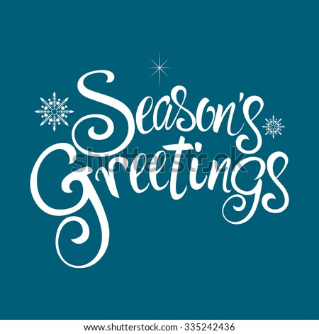 text of season's greetings with ...