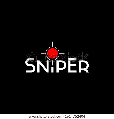 text of sniper on dark
