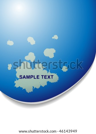 Text pattern with blue gradient and shadow