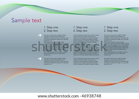 Text presentation layout.