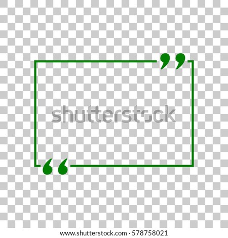 text quote sign dark green