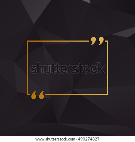 text quote sign golden style